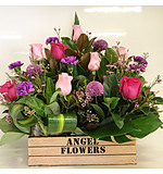 more on A Crate of Purples, Whites and  Pinks