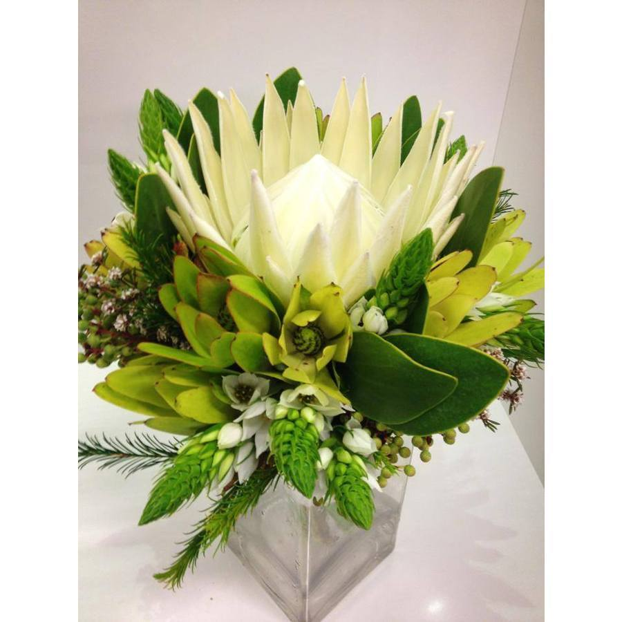 Native Posy of Whites and Greens - Image 1