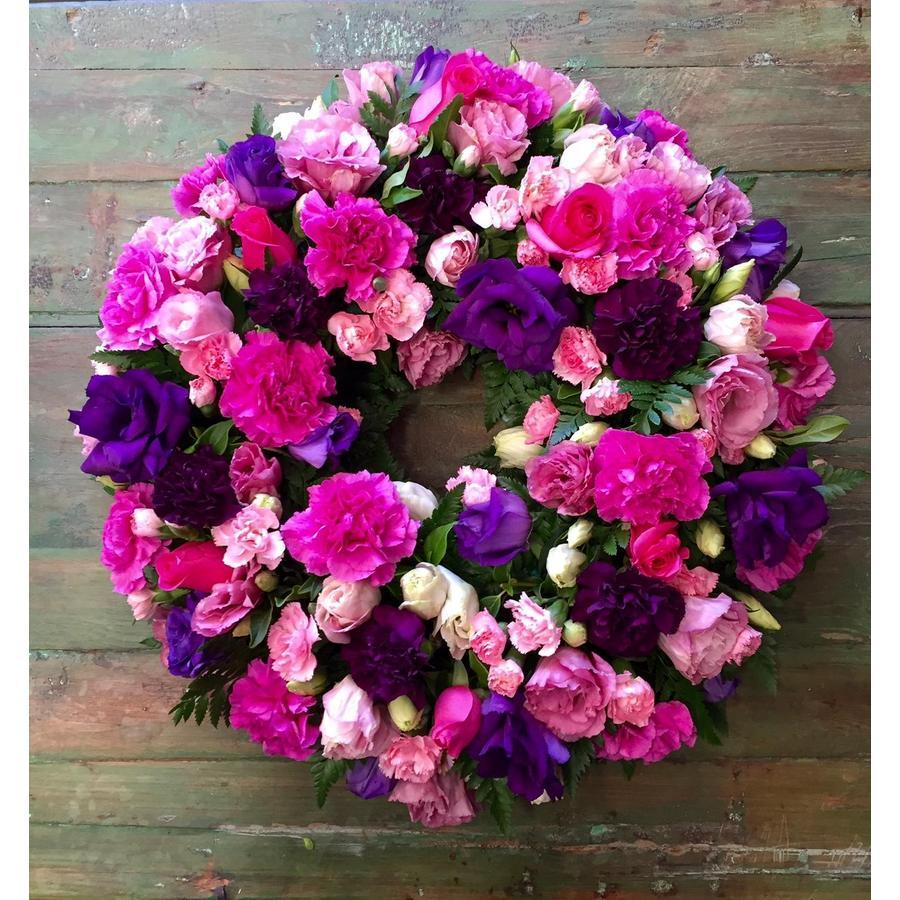 Wreath of Purples and Pinks - Image 1