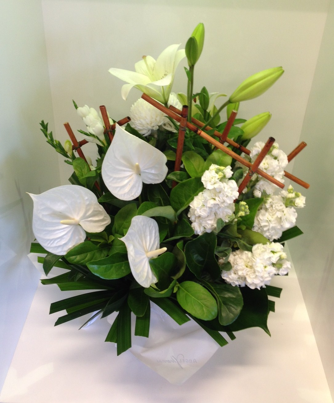 more on A Modern White Dome Arrangement