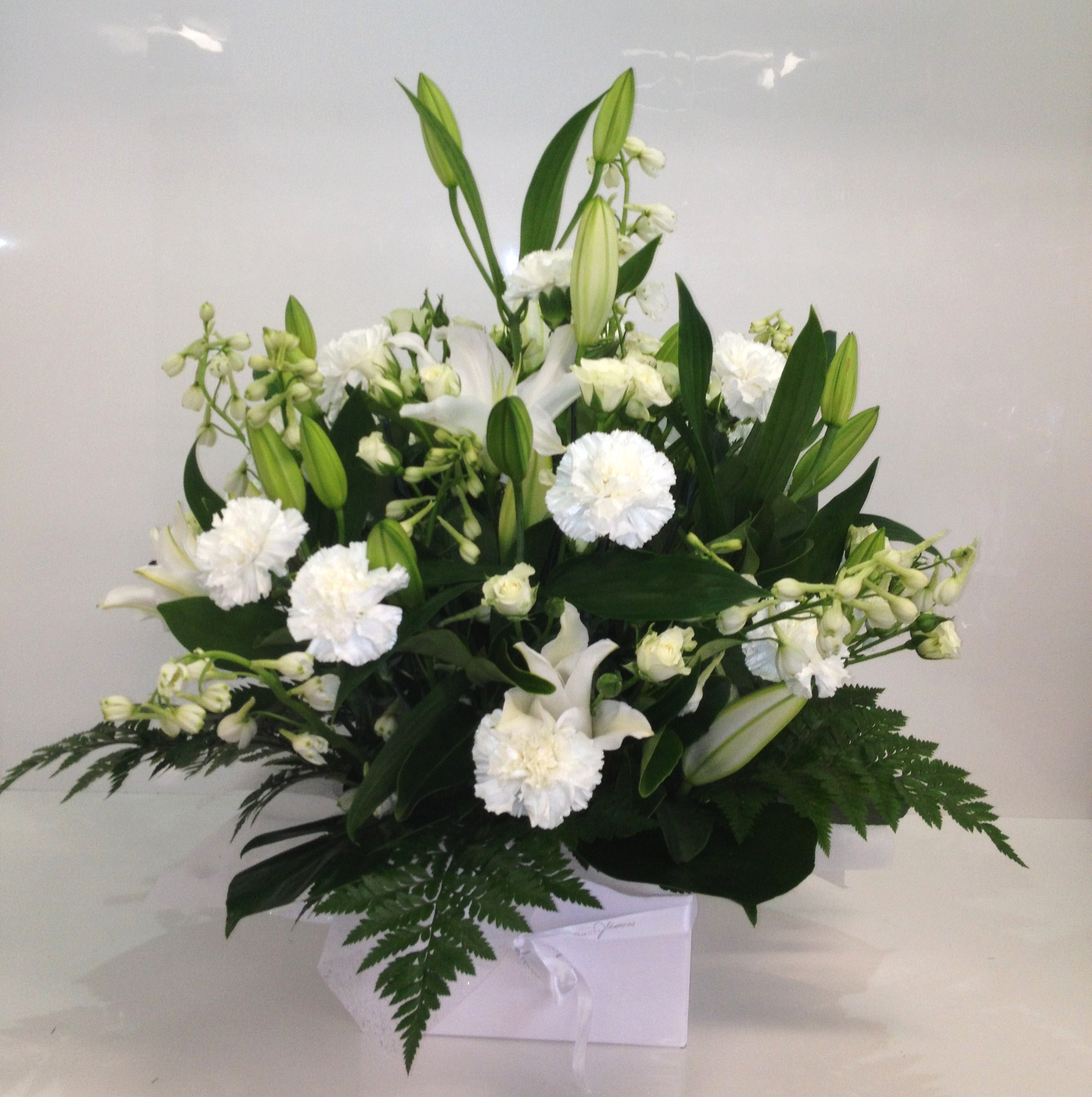 more on Deluxe White Dome Arrangement $100.00