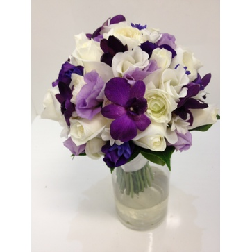 more on White, Lilac and Violet Posy