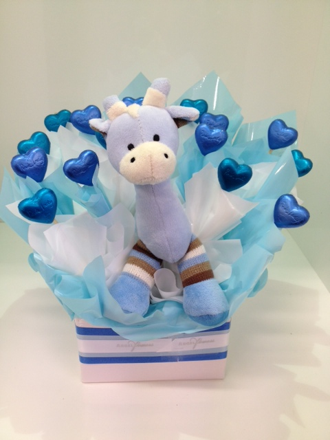 more on Blue Giraffe Chocolate Bouquet