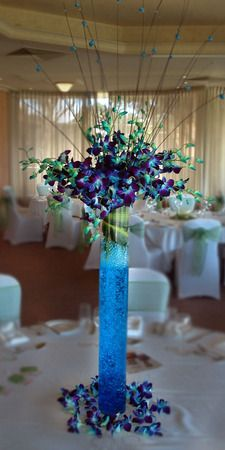 more on Blue Galaxy Tall Table Centre