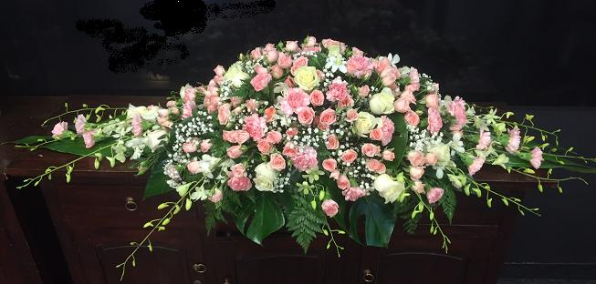 more on Casket Spray Pink and White