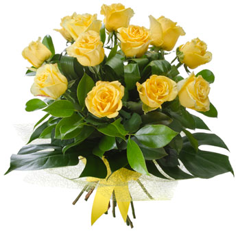 more on Dozen yellow rose bouquet $105.00