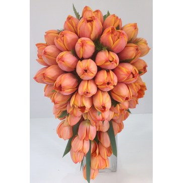 more on Orange Tulip Teardrop Bouquet