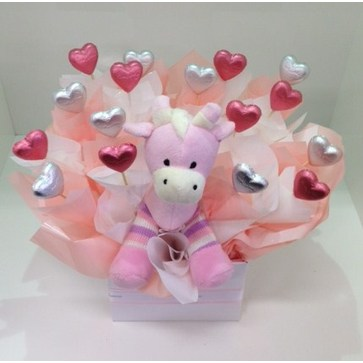 more on Pink Giraffe Chocolate Bouquet