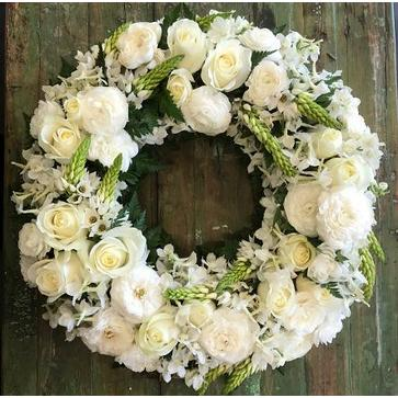 more on Round Wreath in Whites