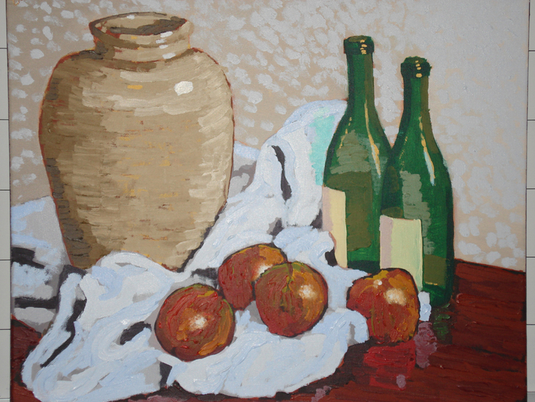 Pot, Bottles,Apples