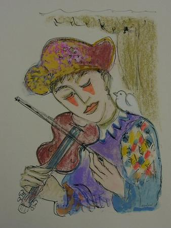 Clown with violin - Image 1