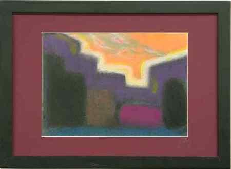 Early evening landscape - orange time - Image 1