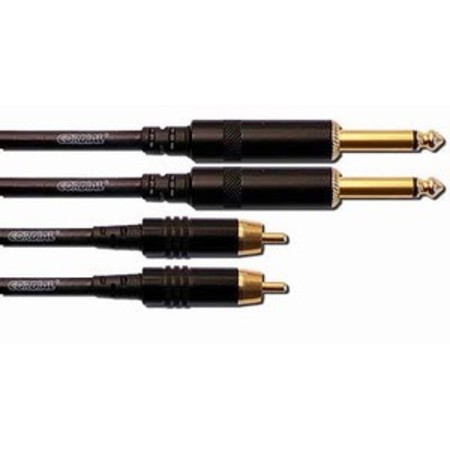 1.5m Dual 6.3mm Jack to Dual RCA Patch Cable - Image 1