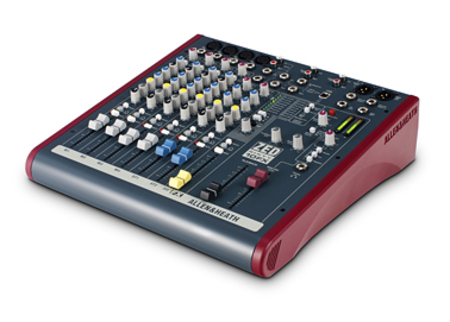 Allen and Heath  ZED-60-10FX 4 Mic-Line Inputs 2 Stereo Inputs 1 Aux 1 FX Send On Board FX - Image 1