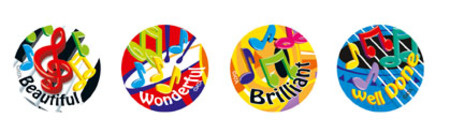 Music Maestros Merit Stickers (96) - Image 1