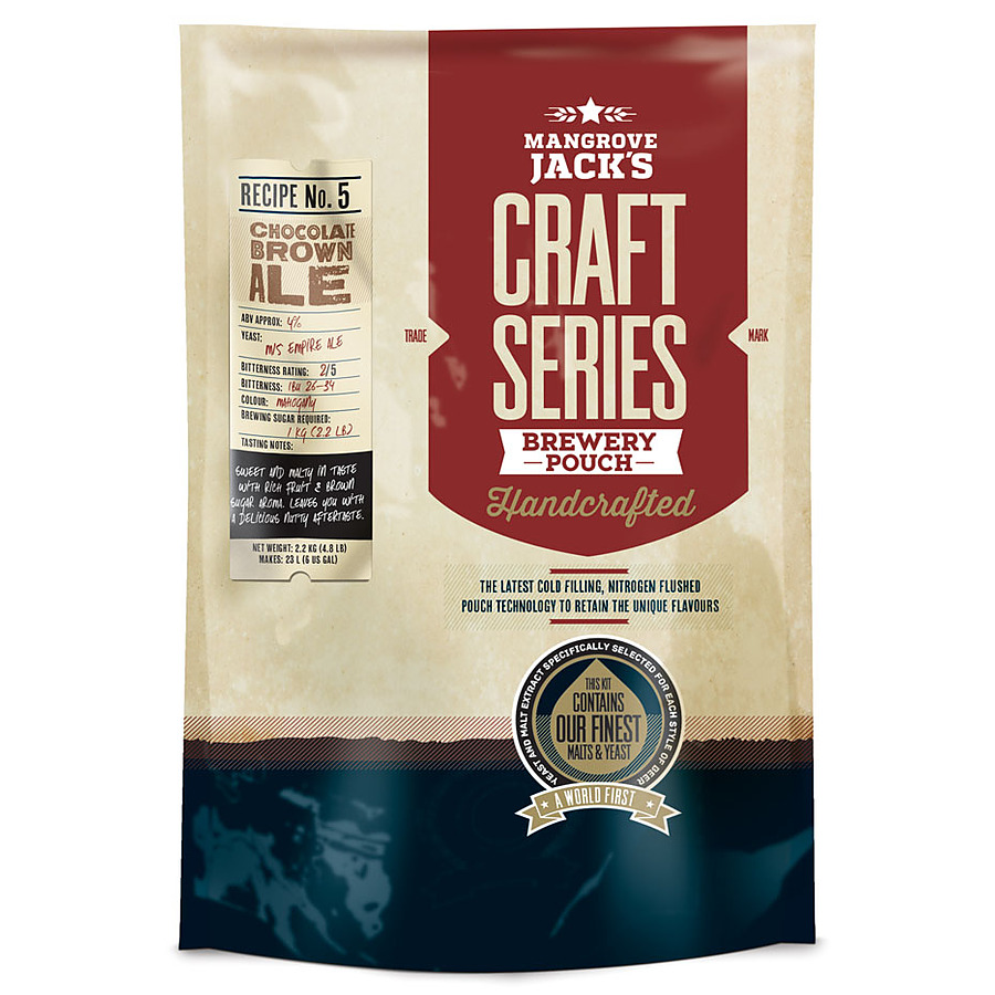 Chocolate Brown Ale 2.2Kg Mangrove Jacks Craft Pouch - Image 1