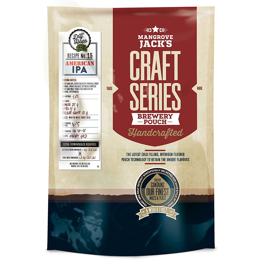 American IPA Mangrove Jacks Craft Pouch 2.5Kg - Image 1