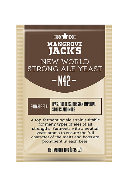 Mangrove Jacks M42 New World Strong Ale - Craft Series Yeast - 10G - Image 1