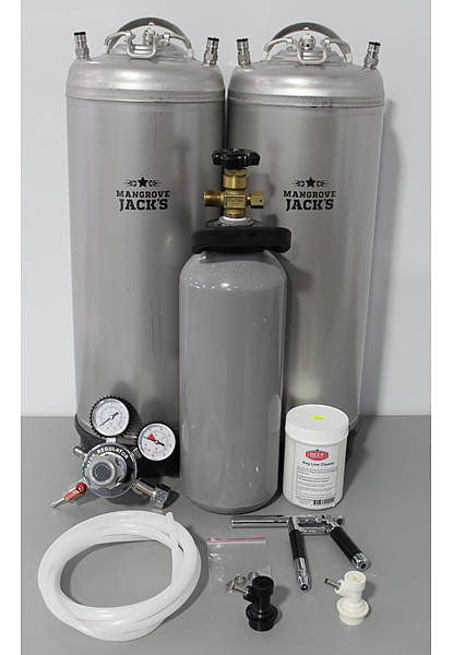 Twin Kegging System With Tap + Co2 Bottle - Image 1