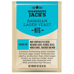 more on Mangrove Jacks M76 Bavarian Lager - Craft Series Yeast - 10G