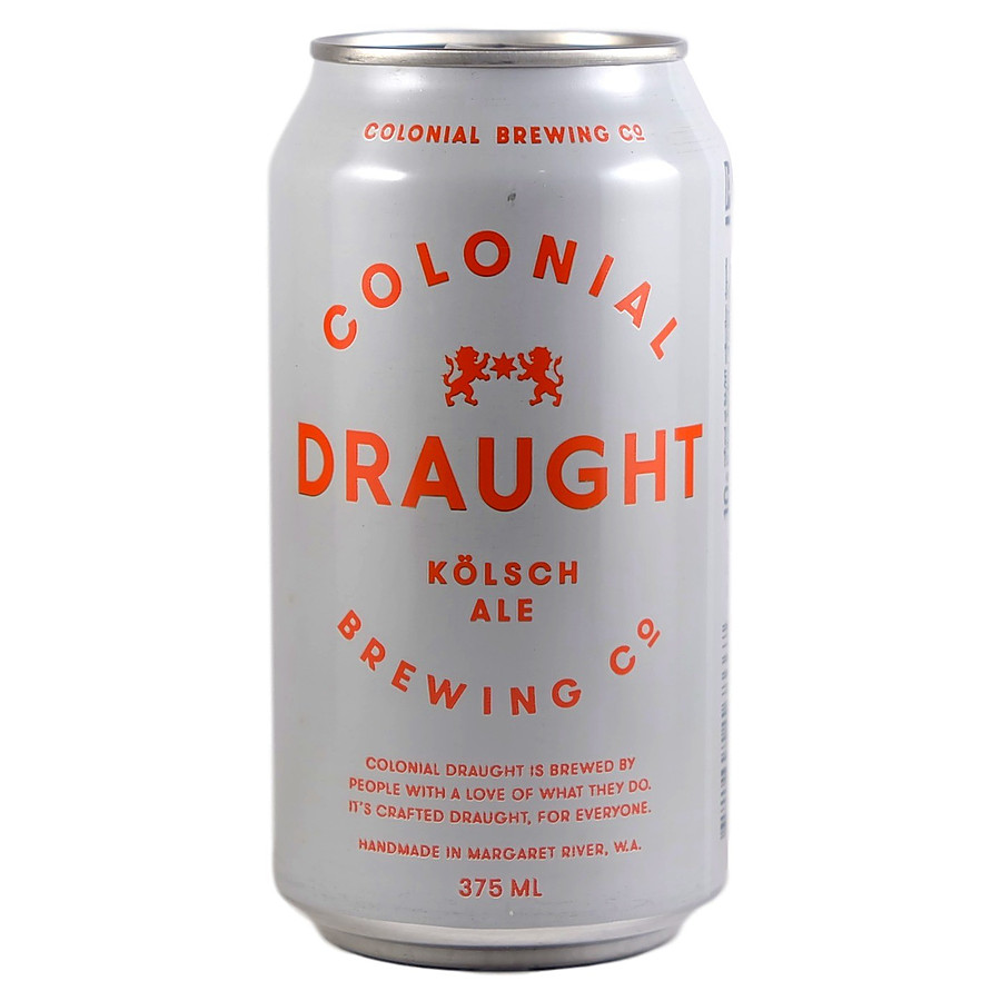 Colonial Draught Kolsch Ale Can 375ml - Image 1