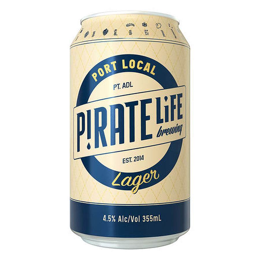 Pirate Life Port Local Lager 355ml Can - Image 1