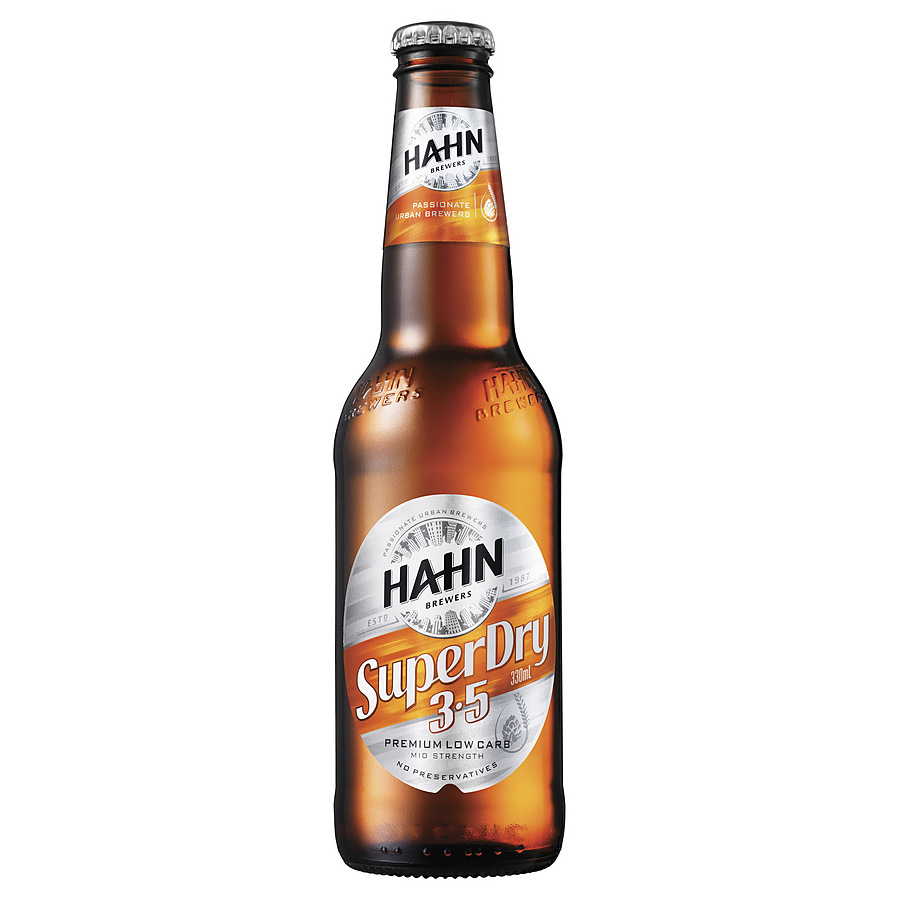 Hahn Super 3.5% Mid Stubby 330ml - Image 1