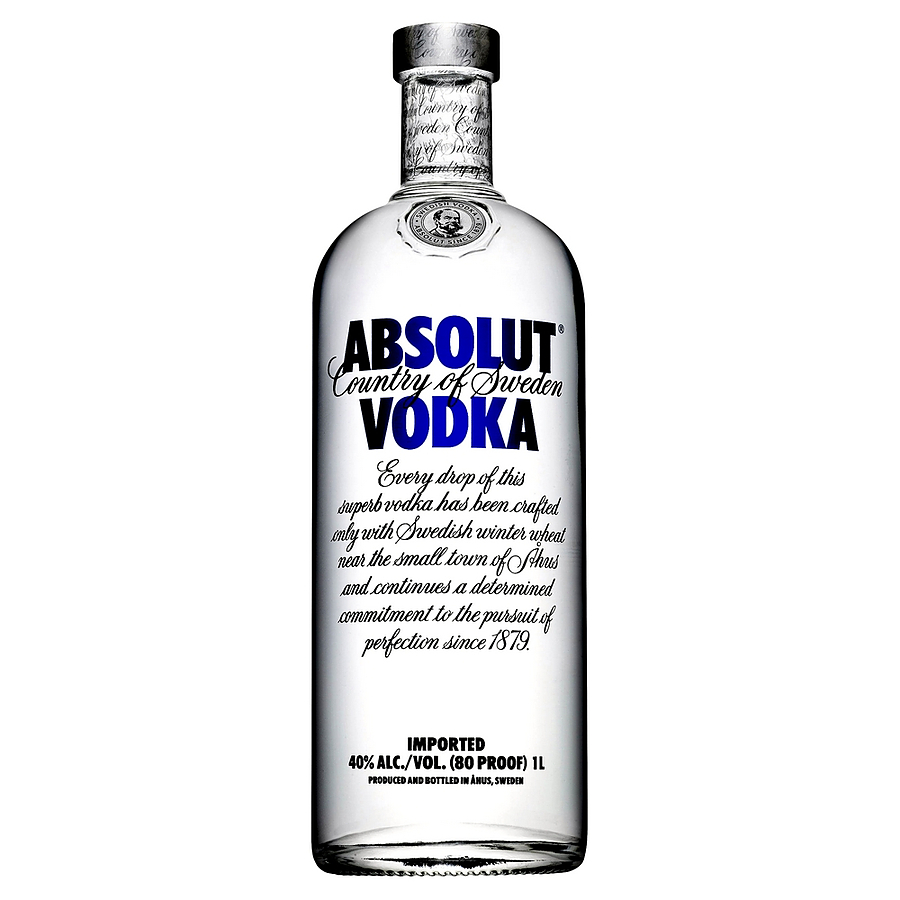 Absolut Vodka 1 Litre - Image 1