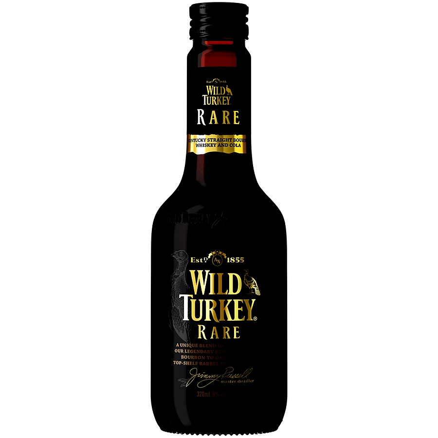 Wild Turkey Rare Bourbon And Cola 8% 320ml - Image 1