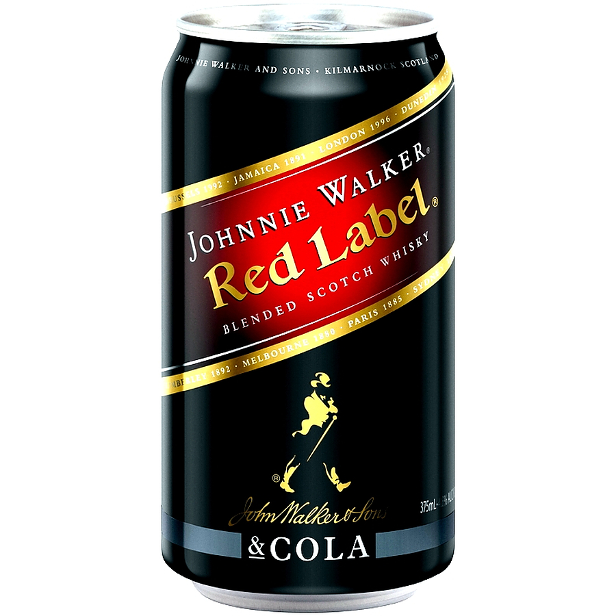 Johnnie Walker Red Label And Cola 4.6% Can - Image 1