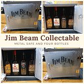 more on Jim Beam Metal Safe And 4 Bottles