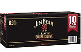 more on Jim Beam Black Double Serve 10 Pack 6.9%