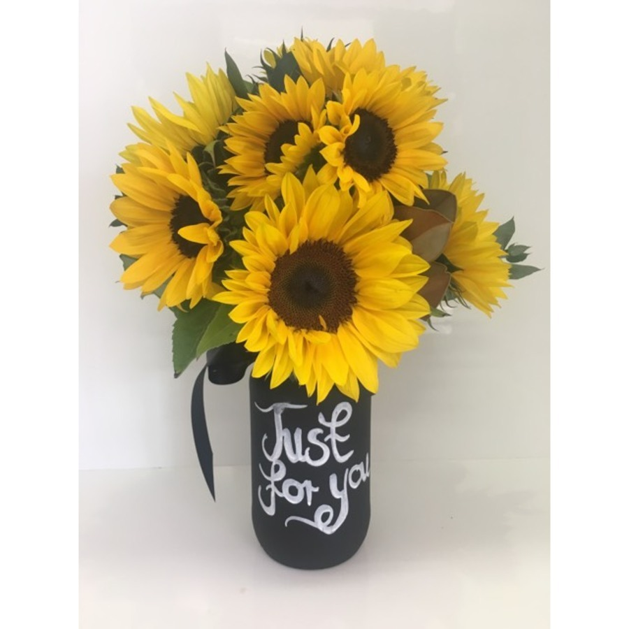 Sunflower Blackboard Jar - Image 1