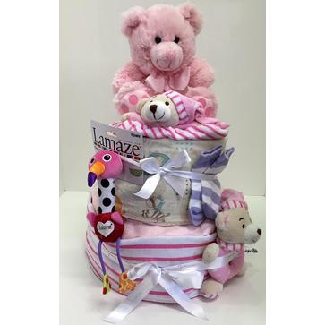 more on Pink Two Tier Nappy Cake