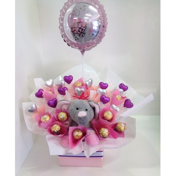 more on Pastel Baby Girl Elephant Chocolate Bouquet