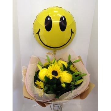 more on Yellow Bouquet with Smiley Balloon