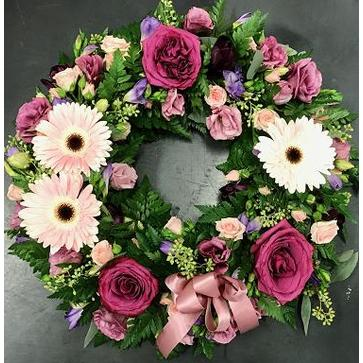 more on Mixed Pink Wreath