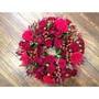 Photo of Round Wreath of Reds