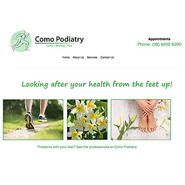 Como podiatry website