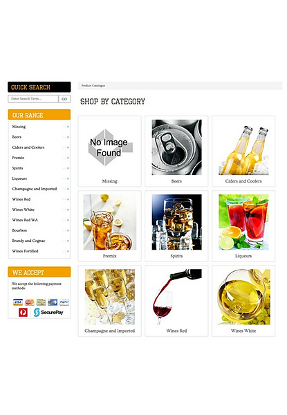 Products Browse by Category Page - Image