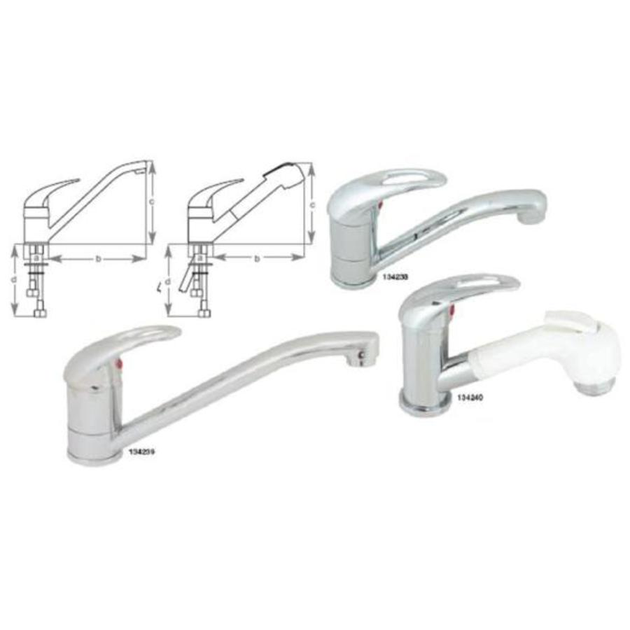 Tap Mixer Short Swivel Faucet Adriatic
