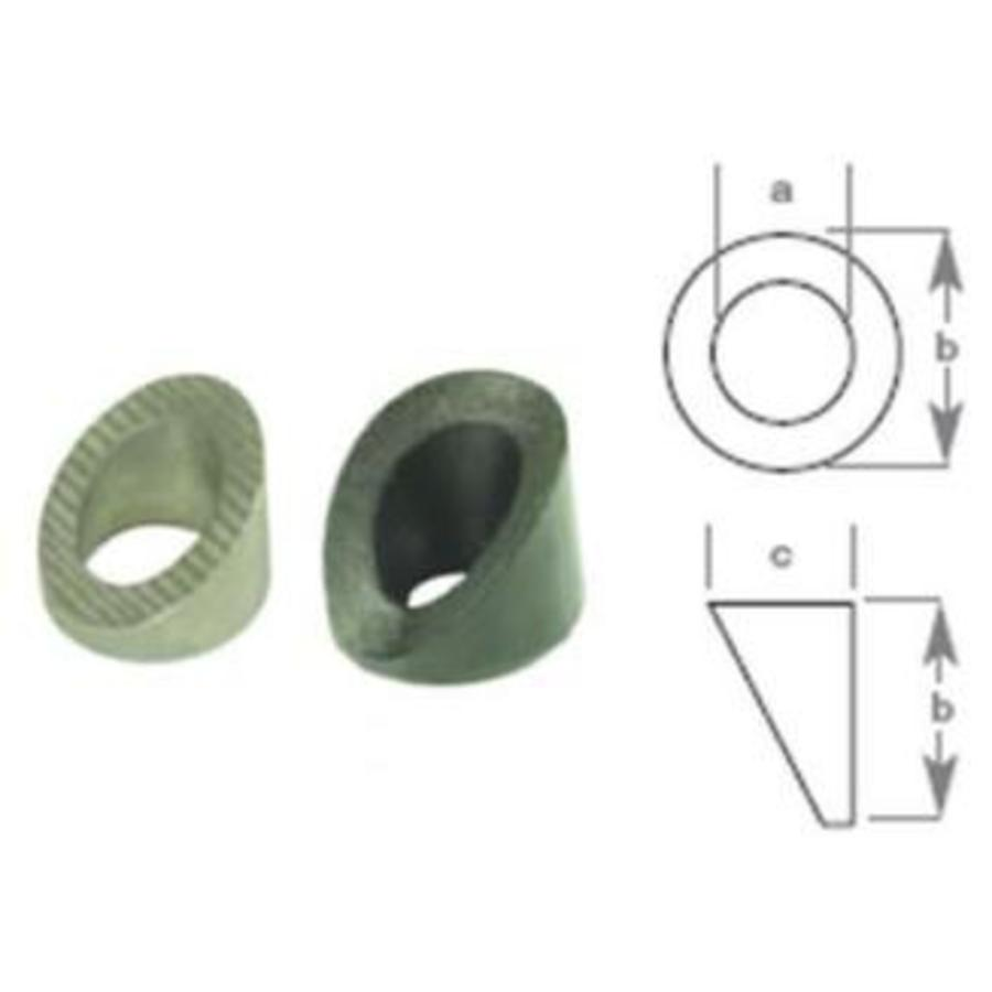 Washer Bev Blk Nylon 6.8mm Id Pack Of 10