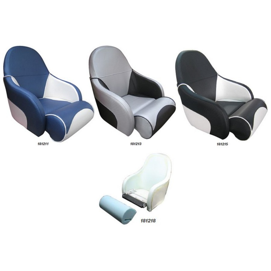 Ocean Seat - Blue and white