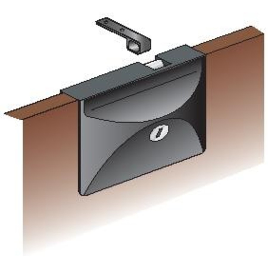 Lock Door/Hatch Sliding C/W Lock Black