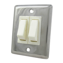 more on Light Switch - Stainless Steel Double