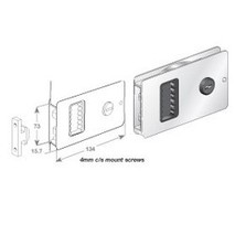 more on Flush Sliding / BiFold Door Lock - Stainless Steel