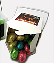 White Noodle Box Filled With 12 Mini Easter Eggs