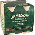JAMESON DRY AND LIME CAN 6.3% 4PK