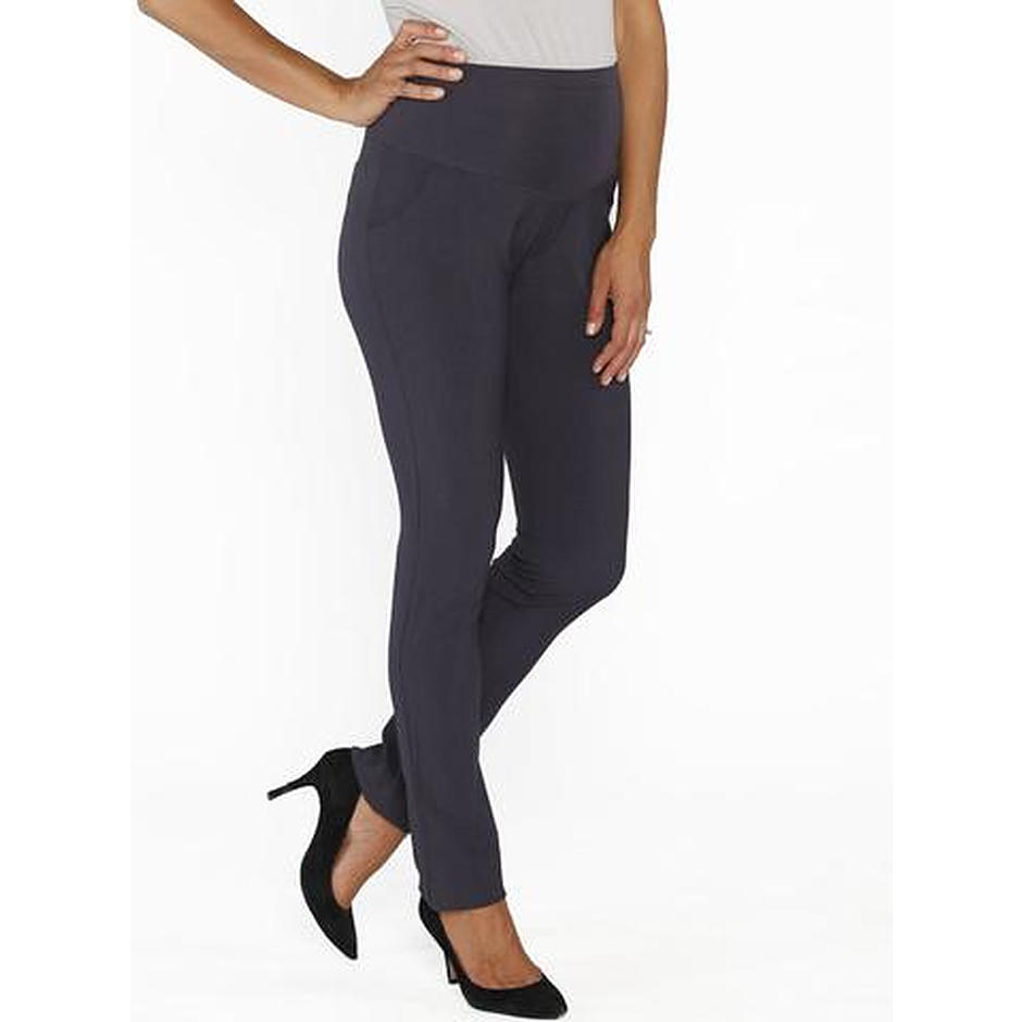 Angel Mid Waist Straight Leg Pants Dark Grey 1P63RC - Image 1