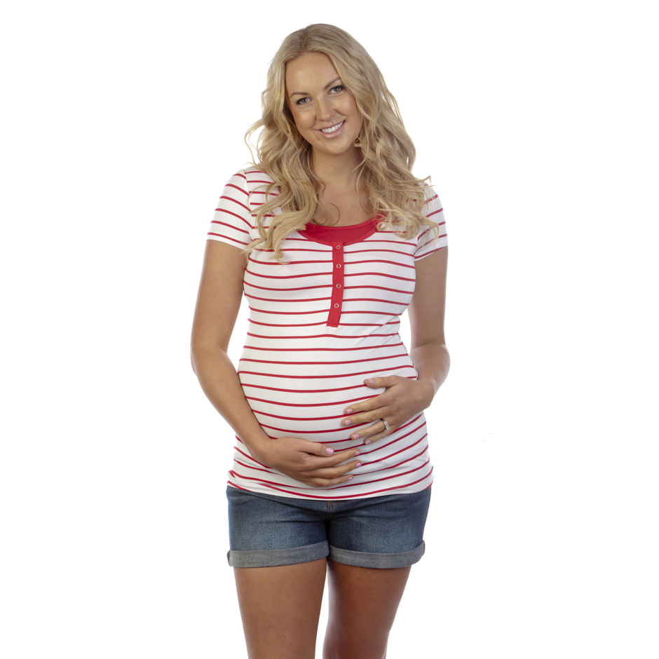 more on Ninth Moon Breastfeeding Stripe Top